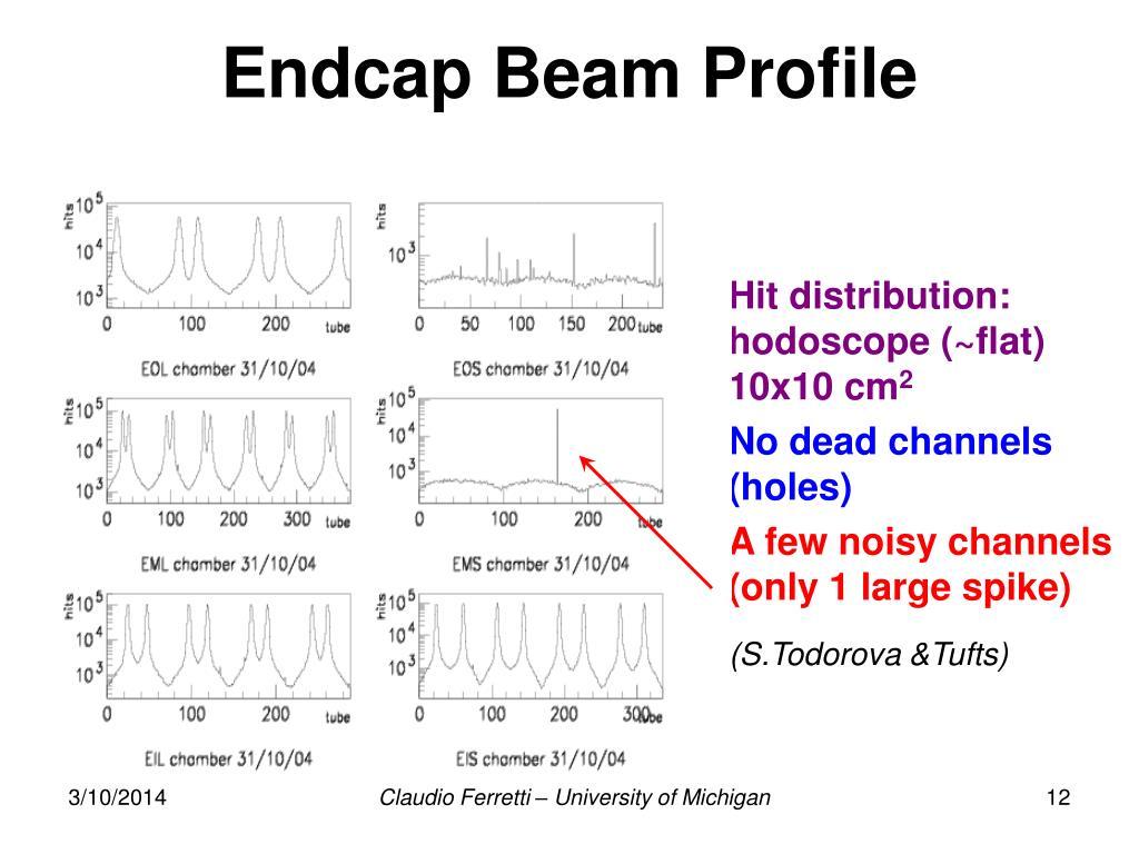 Endcap Beam Profile
