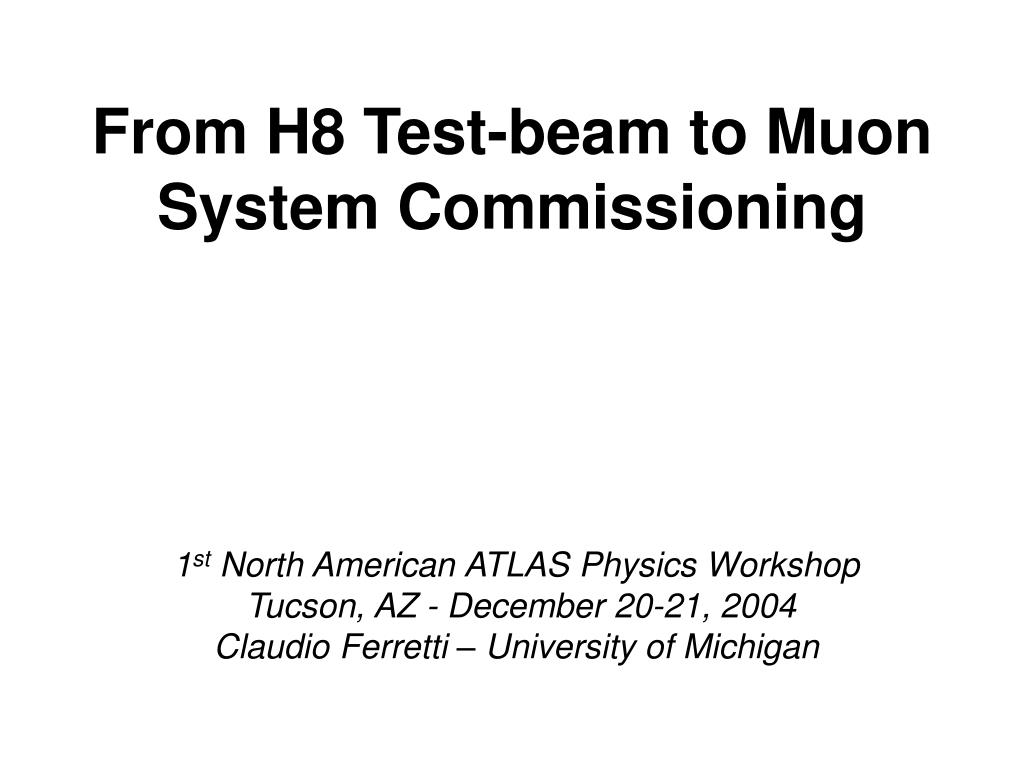 from h8 test beam to muon system commissioning