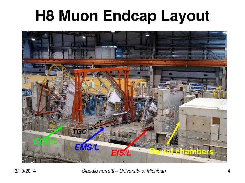 H8 Muon Endcap Layout
