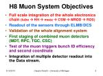 h8 muon system objectives