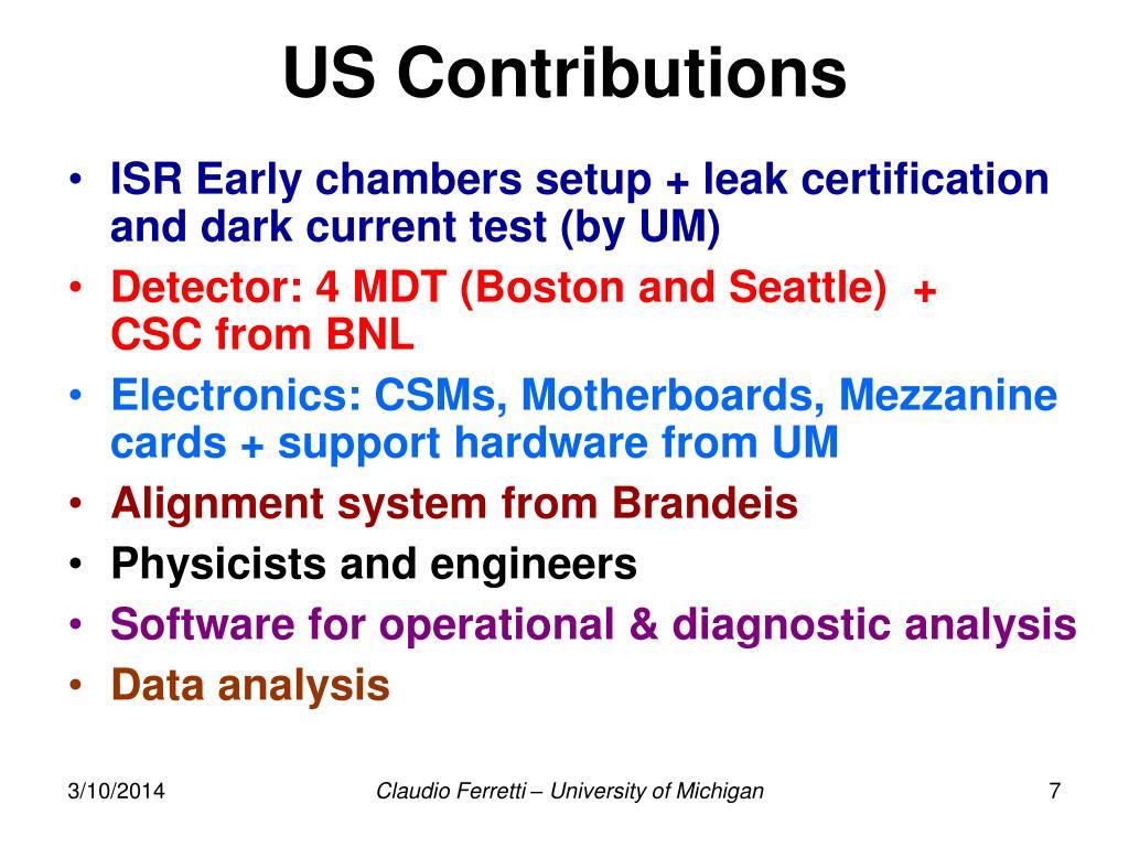 US Contributions
