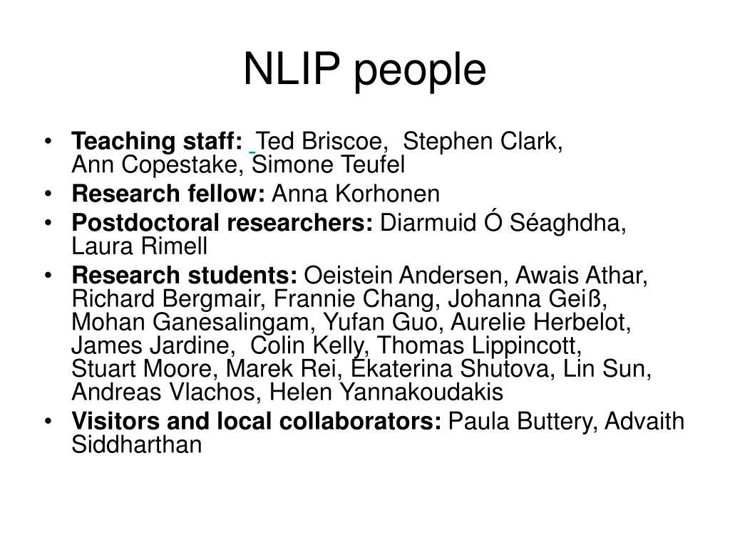 NLIP people
