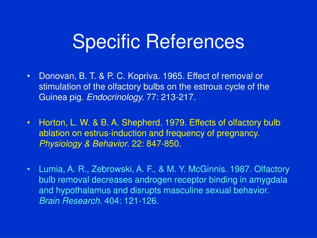 Specific References