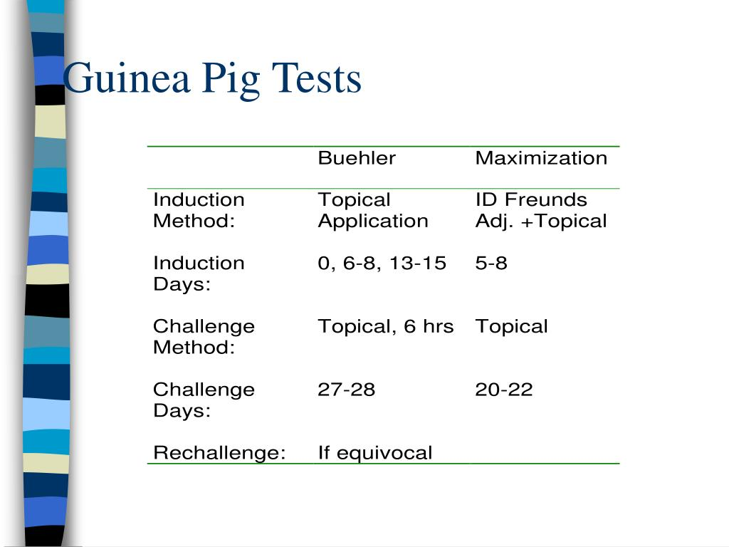 Guinea Pig Tests