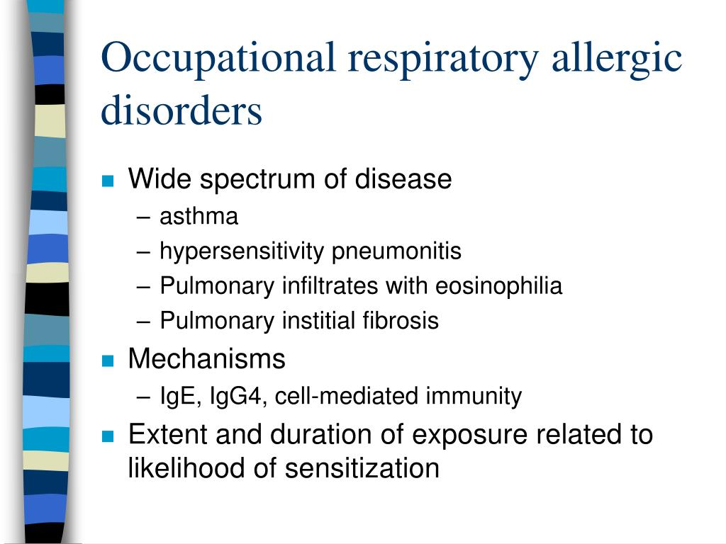 Occupational respiratory allergic disorders