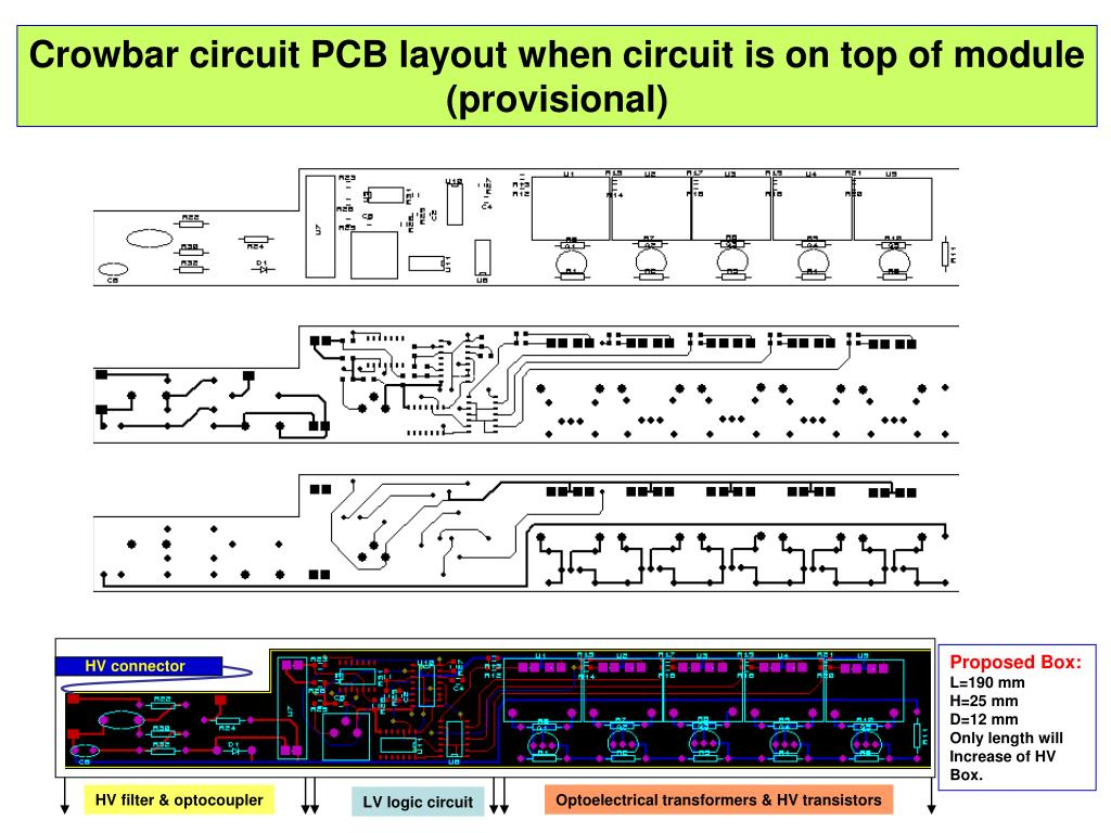 Crowbar circuit PCB layout when circuit is on top of module