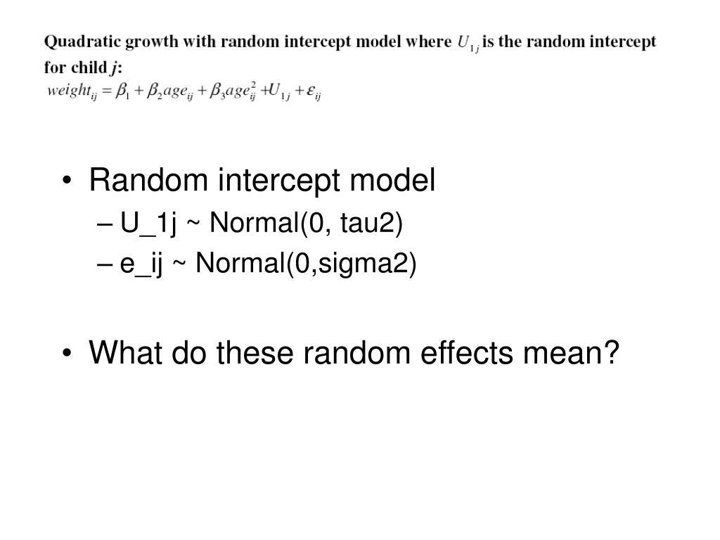 Random intercept model