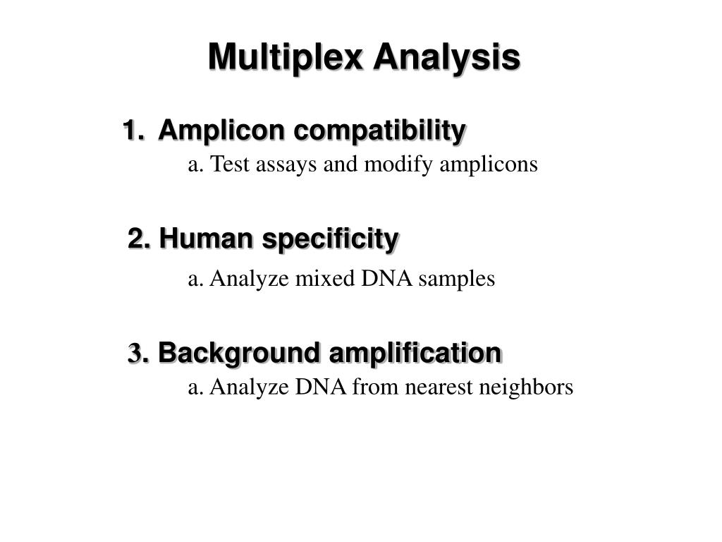 Multiplex Analysis