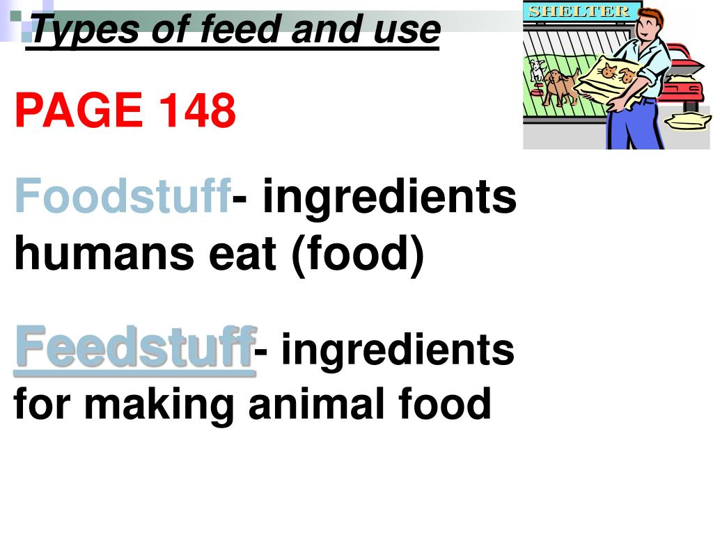 Types of feed and use
