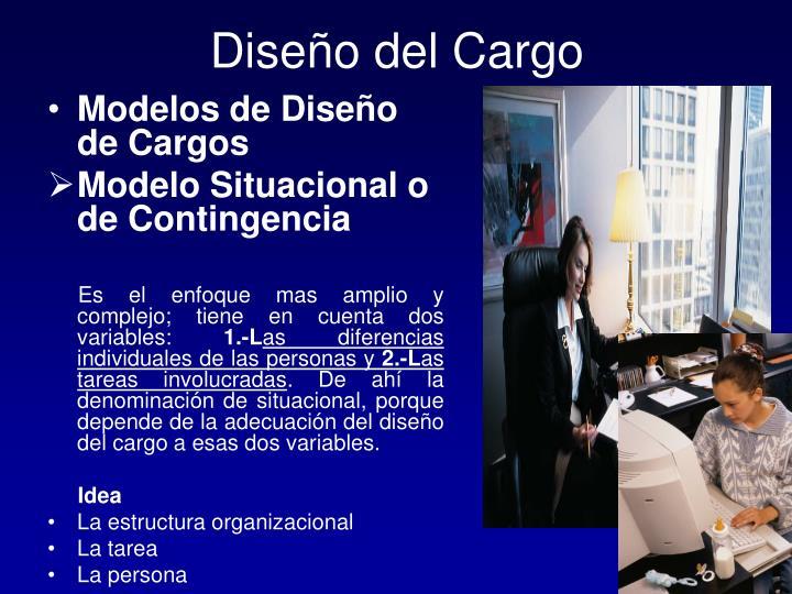 Diseño del Cargo