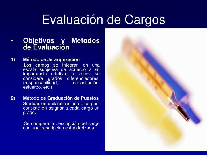 Evaluación de Cargos