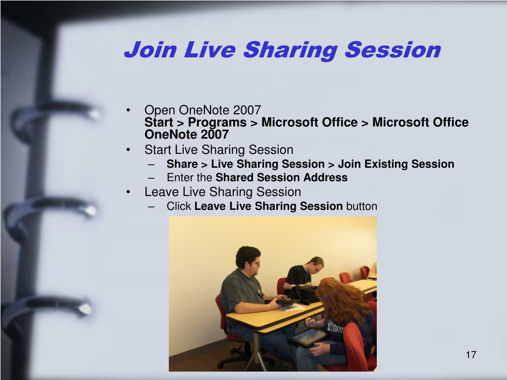 Join Live Sharing Session