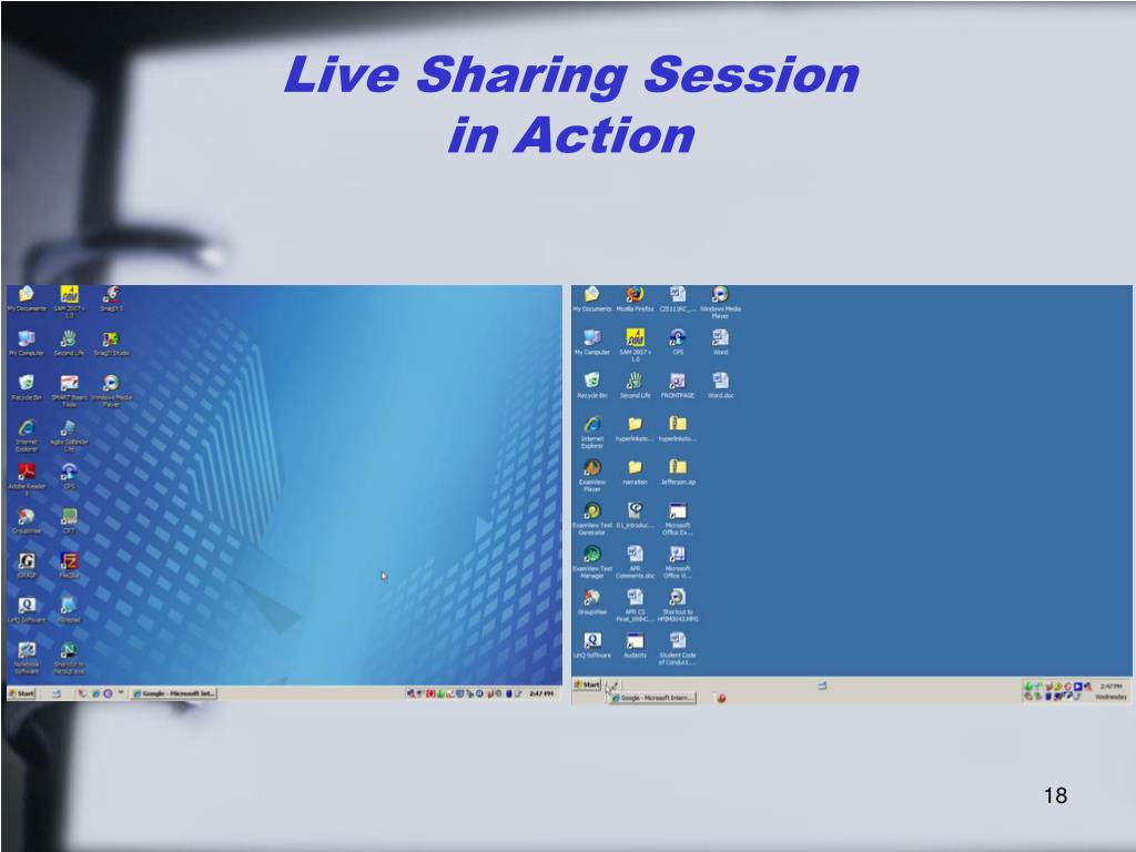 Live Sharing Session
