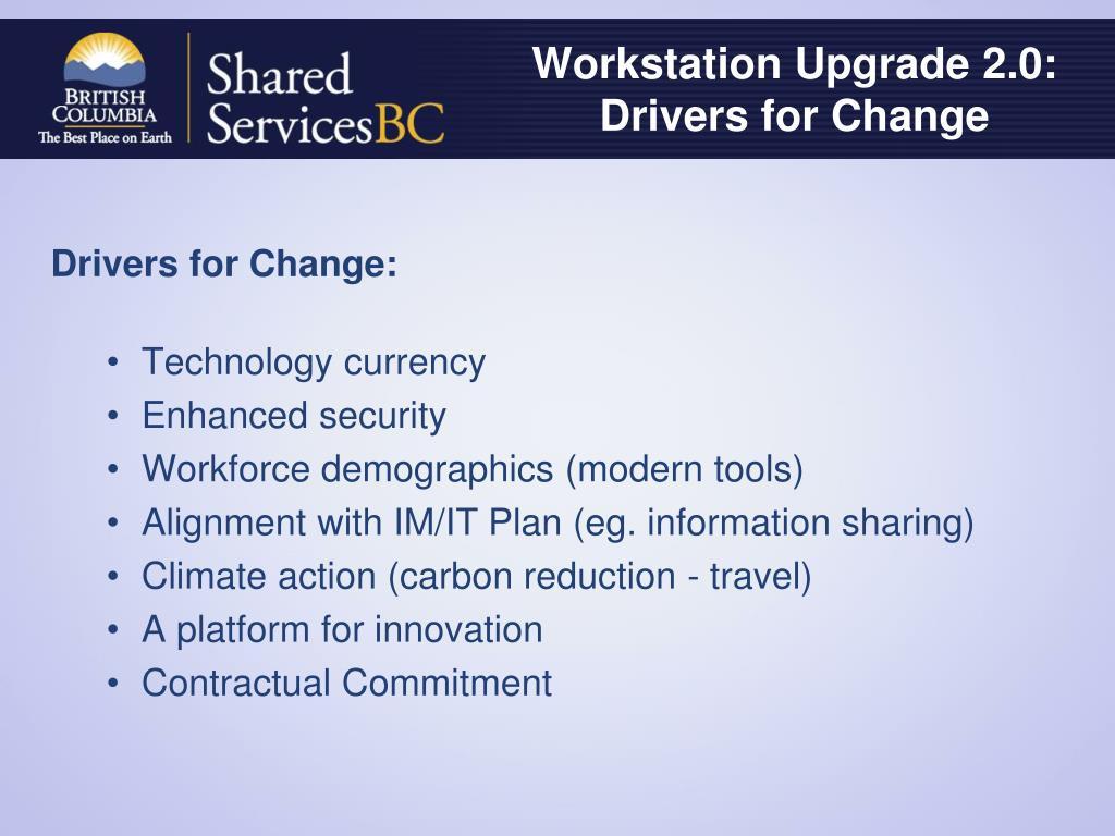 Workstation Upgrade 2.0: