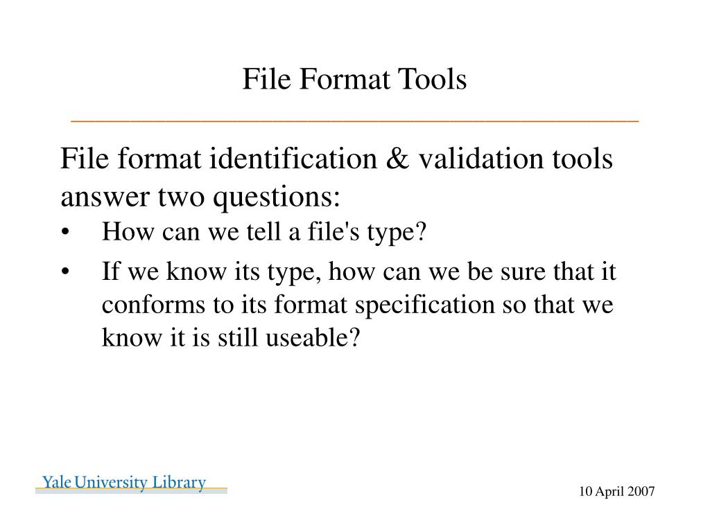 File Format Tools