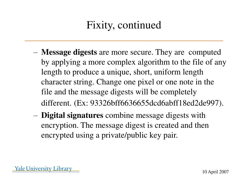 Fixity, continued