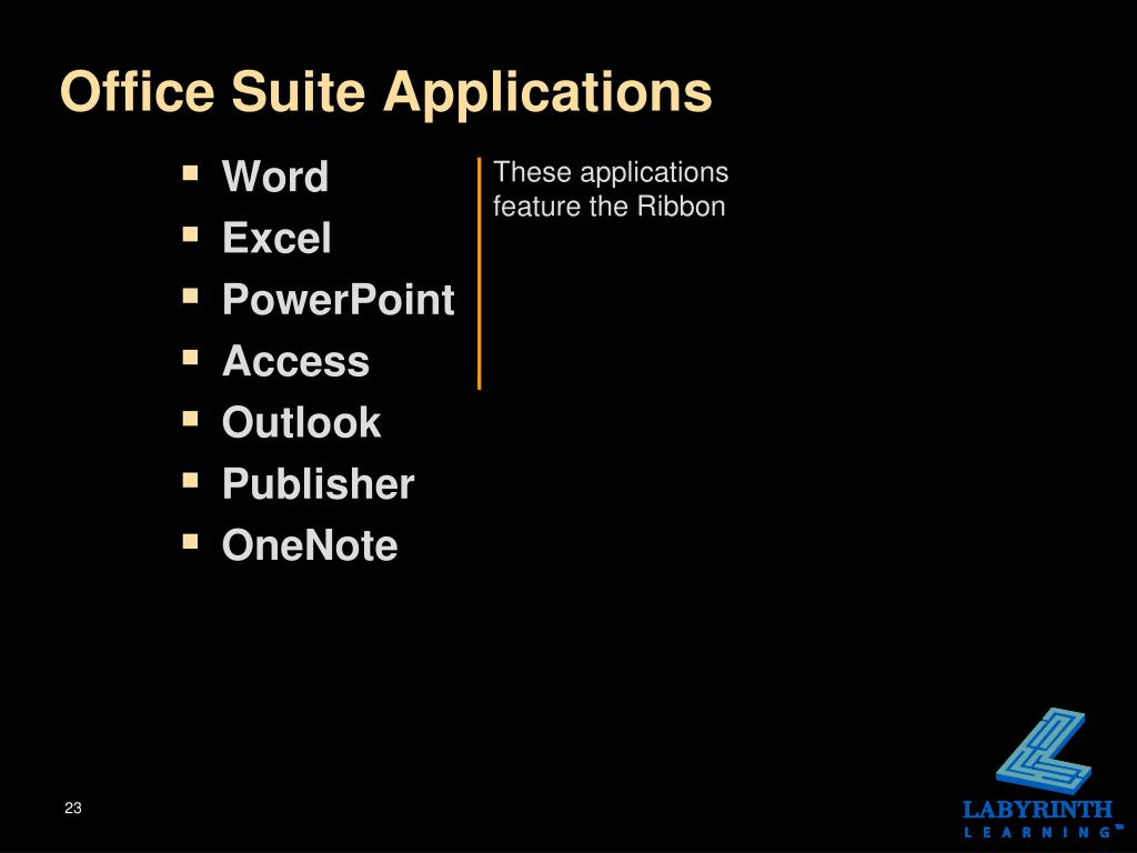 Office Suite Applications