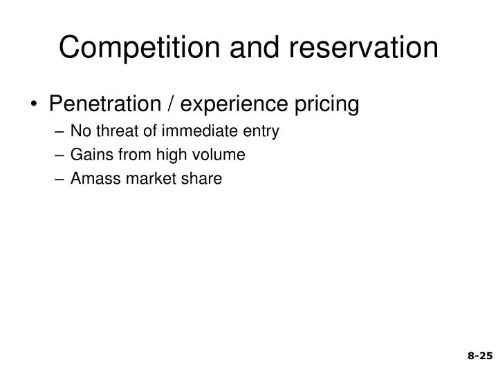 Competition and reservation