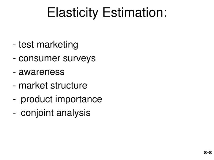 Elasticity Estimation: