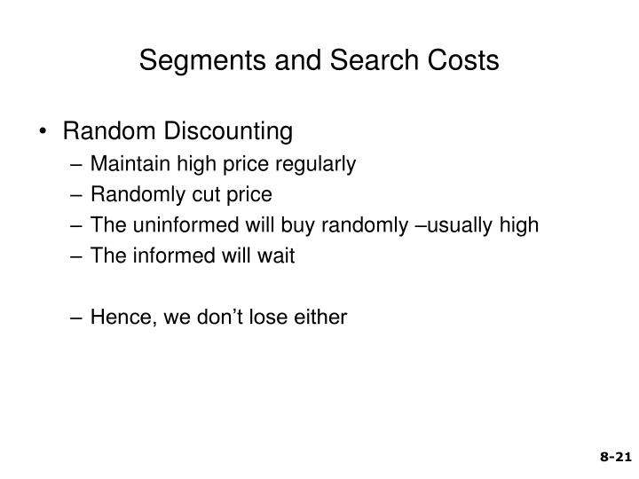 Segments and Search Costs