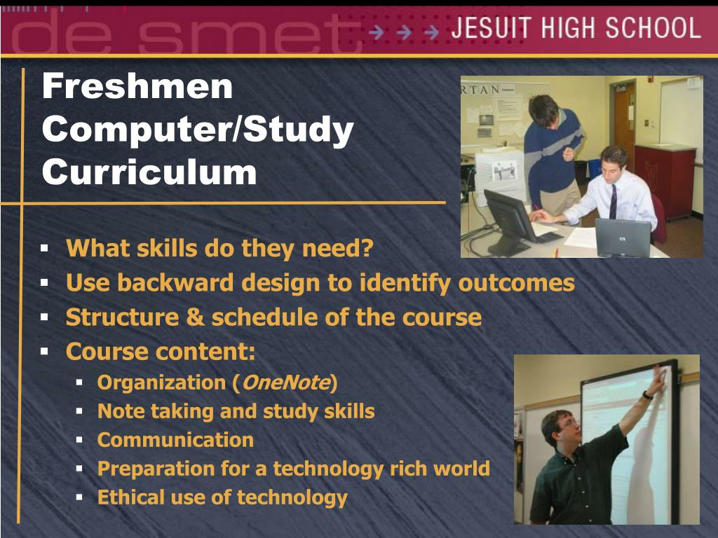 Freshmen Computer/Study Curriculum