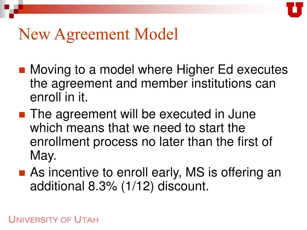 New Agreement Model