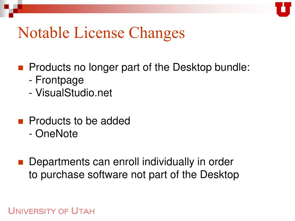 Notable License Changes