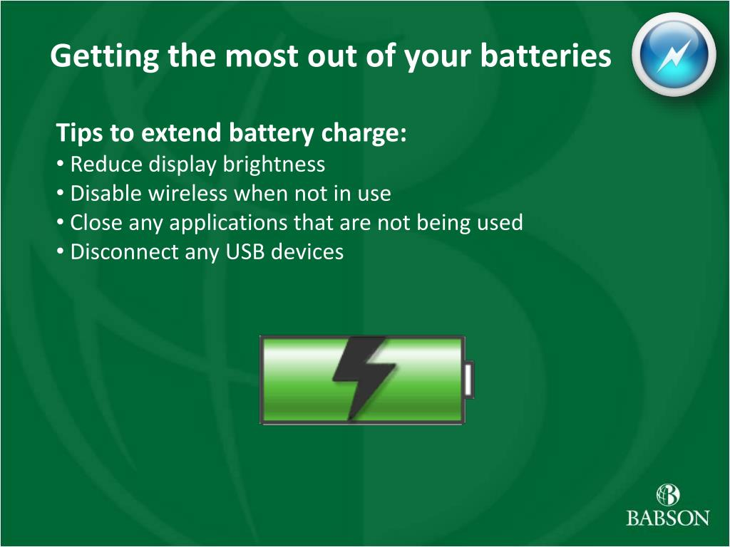 Getting the most out of your batteries