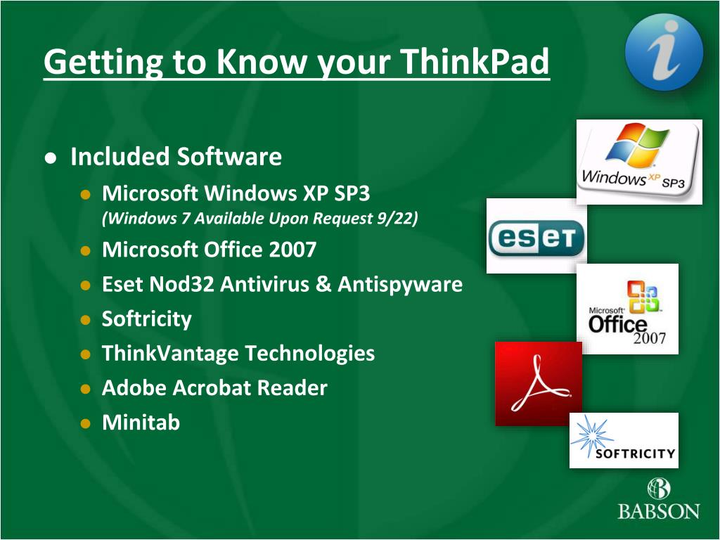 Getting to Know your ThinkPad