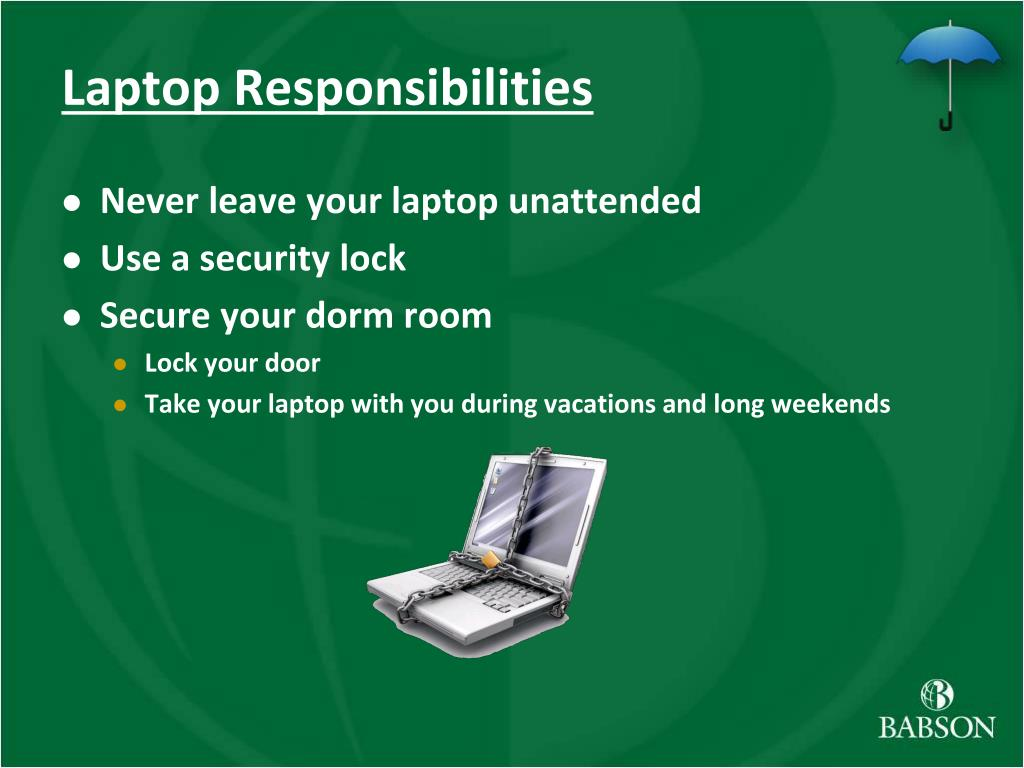 Laptop Responsibilities