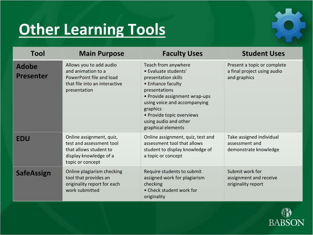 Other Learning Tools