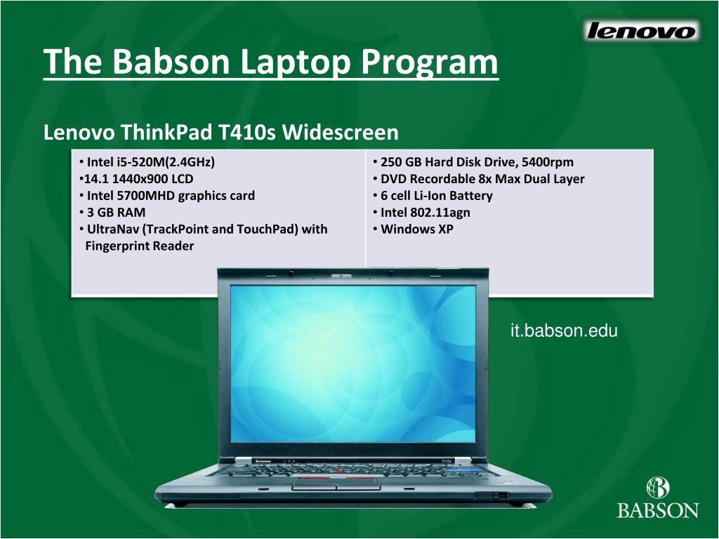 The Babson Laptop Program