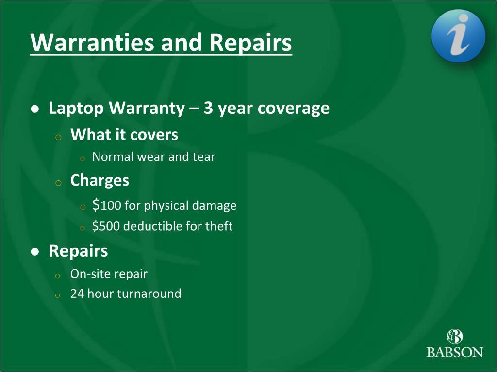 Warranties and Repairs