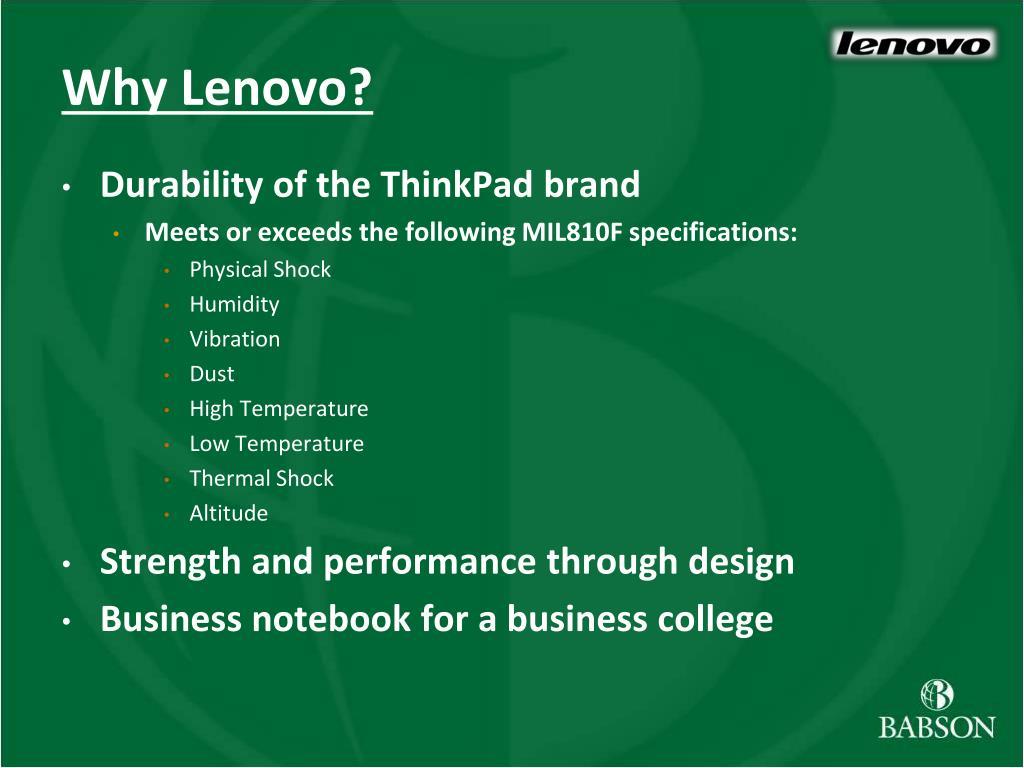 Why Lenovo?