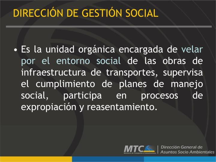 DIRECCIÓN DE GESTIÓN SOCIAL