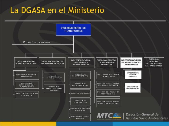 La DGASA en el Ministerio