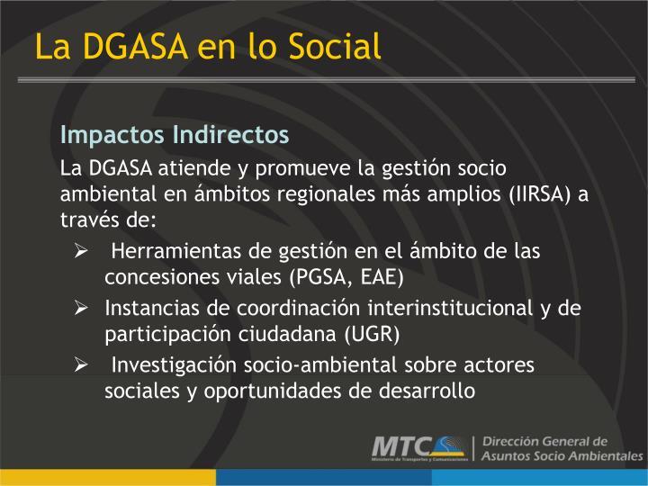 La DGASA en lo Social