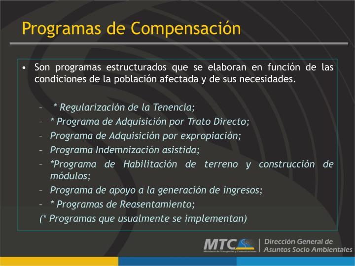 Programas de Compensación