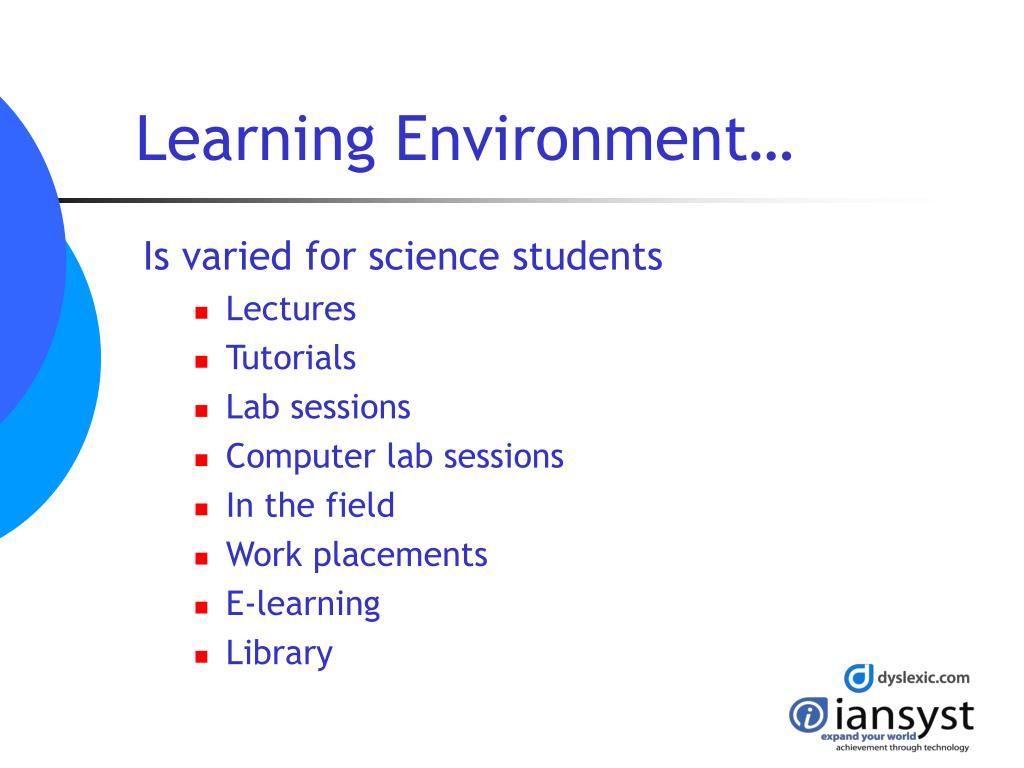 Learning Environment…