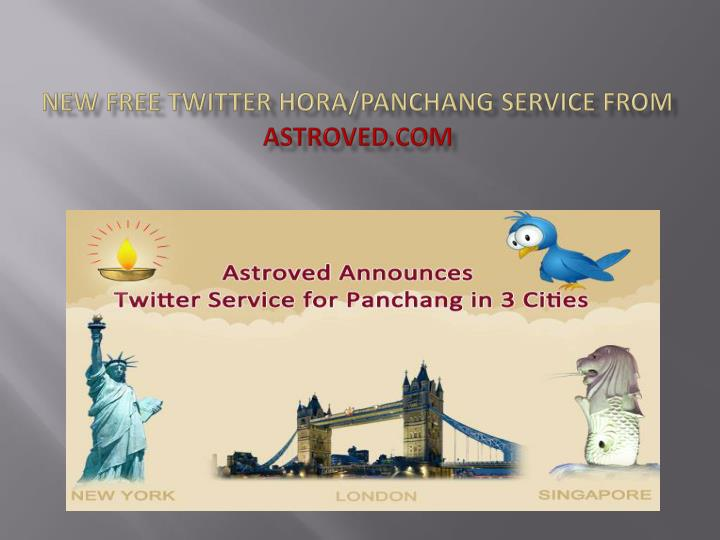 New free twitter hora panchang service from astroved com