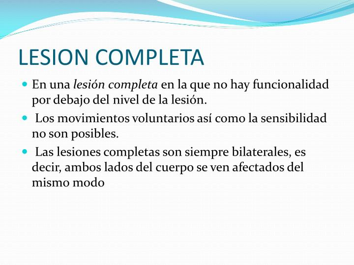 LESION COMPLETA