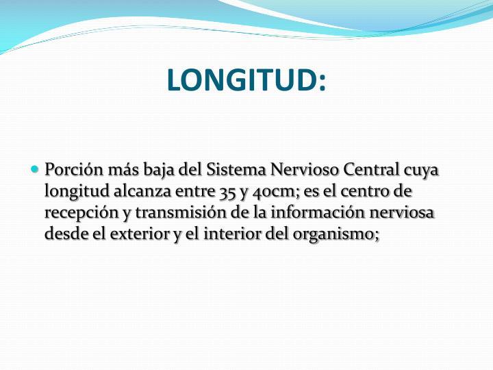 LONGITUD: