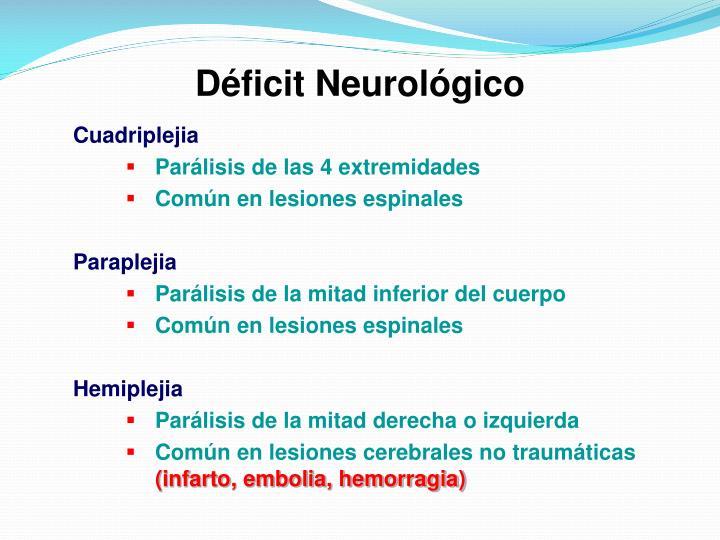 Déficit Neurológico