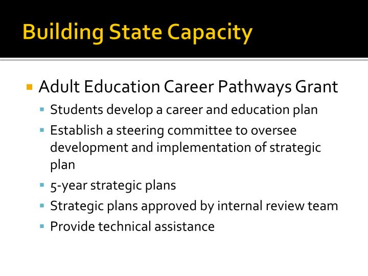 Building State Capacity