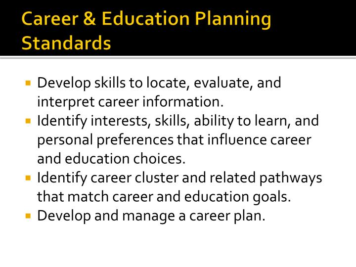 Career & Education Planning Standards
