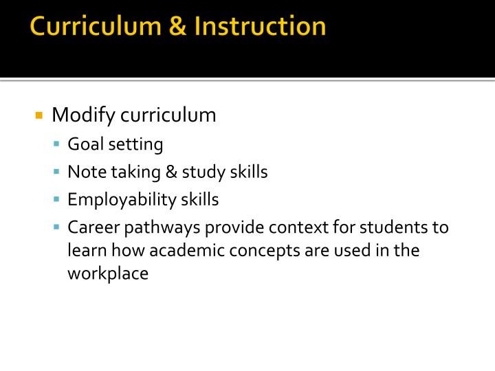 Curriculum & Instruction