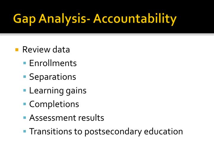Gap Analysis- Accountability