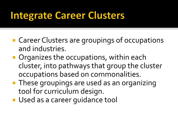 Integrate Career Clusters