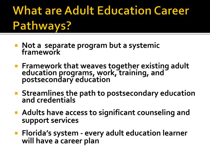What are Adult Education Career Pathways?