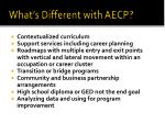 what s different with aecp